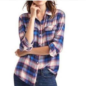 PENDLETON x GAP plaid button down flannel shirt L